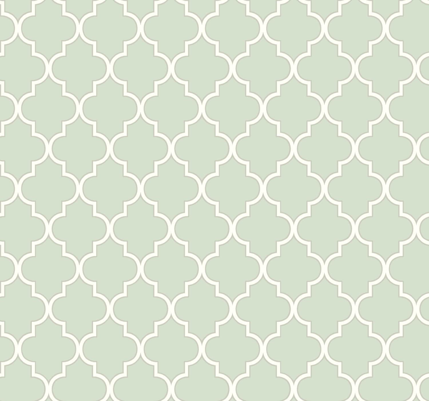 York Wallcoverings Spa Blues Buzzing Around Trellis Removable Wallpaper, Greens