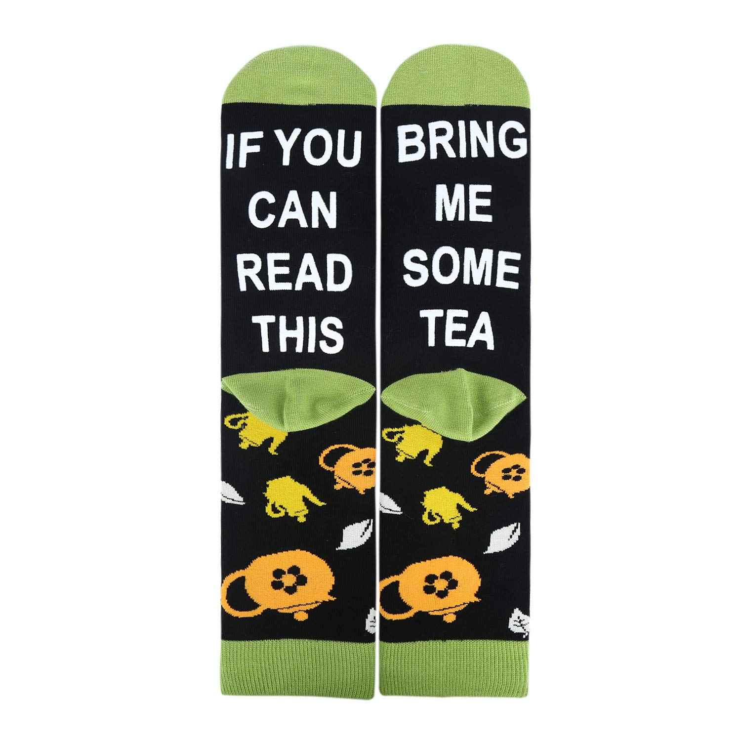 Mens If You Can Read This Socks Funny Saying Novelty Crazy Crew Socks Beer Wine Tea Tacos Food Socks