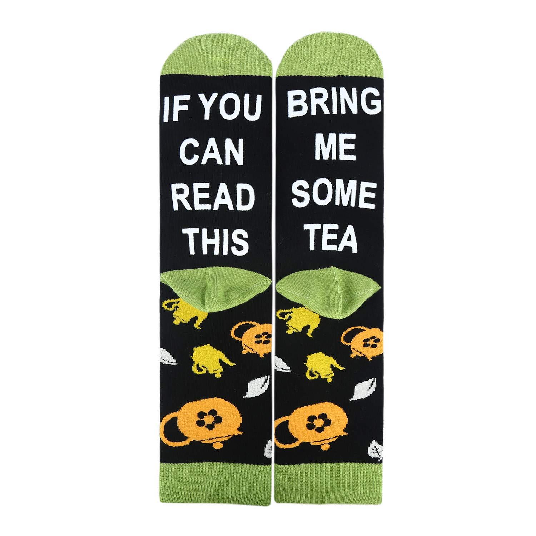Mens If You Can Read This Socks Funny Saying Novelty Crazy Crew Socks Beer Wine Tea Tacos Food Socks