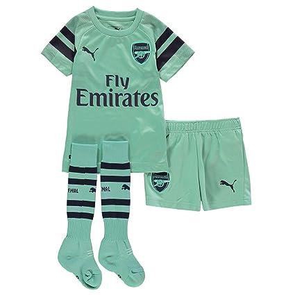 3f1dfb90a448 Amazon.com   PUMA 2018-2019 Arsenal Third Little Boys Mini Kit ...