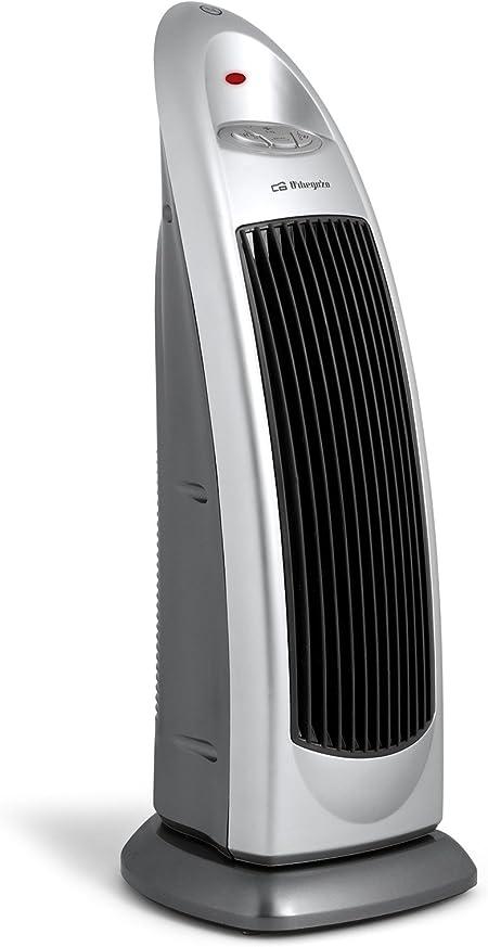 color plata 2 posiciones de calor 1000 W y 2000 W 2000 W funci/ón ventilador asa de transporte oscilante Orbegozo CR 5026 Calefactor cer/ámico vertical