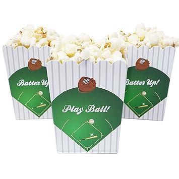 Amazon Sports Themed Mini Popcorn Favor Boxes For Birthdays