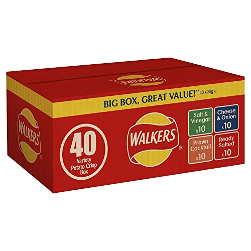 Walkers Variety Box Crisps (Pack of 40)