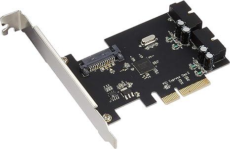 SilverStone SST-ECU01 scheda di espansione PCI-E Express 2.0 con due porte USB 3.0 Superspeed interne 10Gbps supporta il low profile