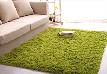 Newrara Super Soft 4.5 Cm Thick Modern Shag Area Rugs Living Room Carpet  Bedroom Rug For
