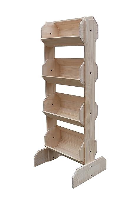Green /& Oak 19397 19397 FixtureDisplays 38.5 x 44.0 x 11.3 Tiered Wooden Display Floorstanding 9 Baskets