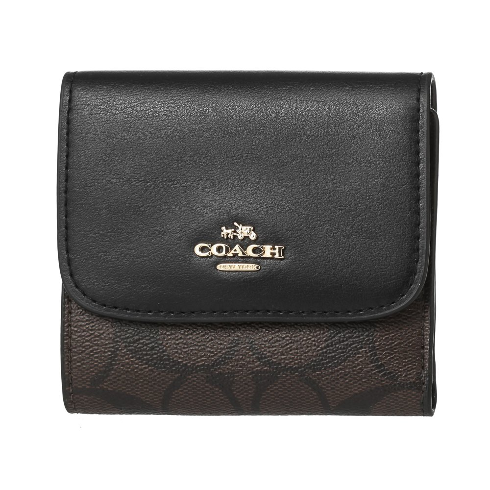 (コーチ) COACH 財布 三つ折り F87589 シグネチャー アウトレット [並行輸入品] B075CDXLRW  ブラウン/ブラック