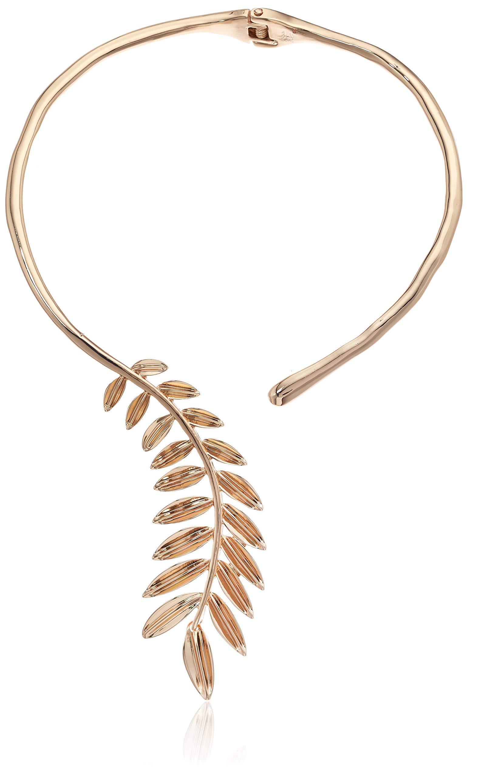 Robert Lee Morris Soho Women's Sculptural Leaf Hinged Collar Necklace, Gold , One Size by Robert Lee Morris Soho