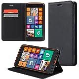 ECENCE Nokia Lumia 925 Handy-Tasche Flip Cover Book Case Schutz-Hülle Etui Wallet Schale Schwarz 11010101