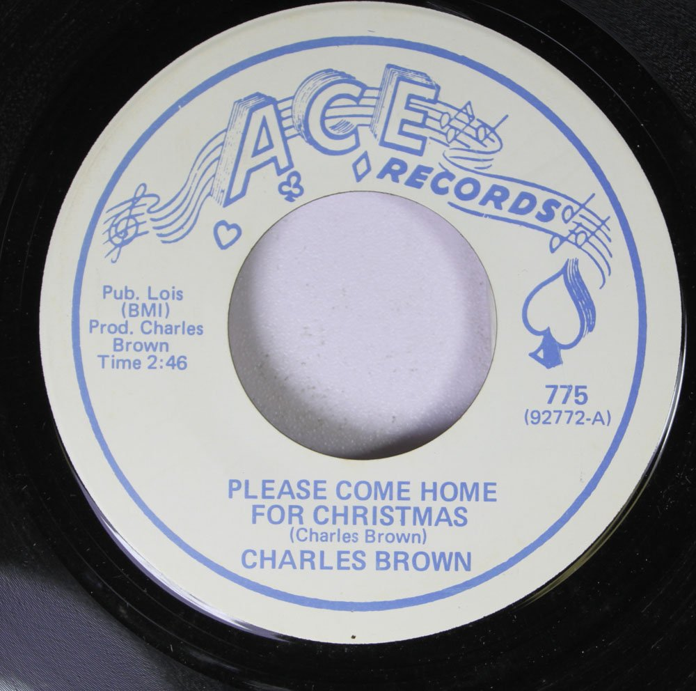 Charles Brown 45 RPM Please Come Home for Christmas / Merry Christmas Baby