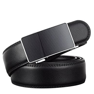 KEBINAI Fashion New Designer Luxury Leather Strap Male Automatic metal  Buckle Belts For Men Waistband ceinture 492118e695e