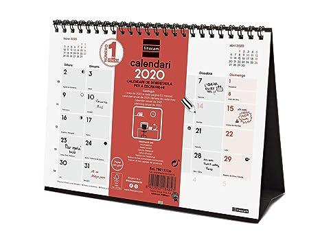 Amazon.com : Finocam - Desktop Calendar 2020 Writing Catalan ...