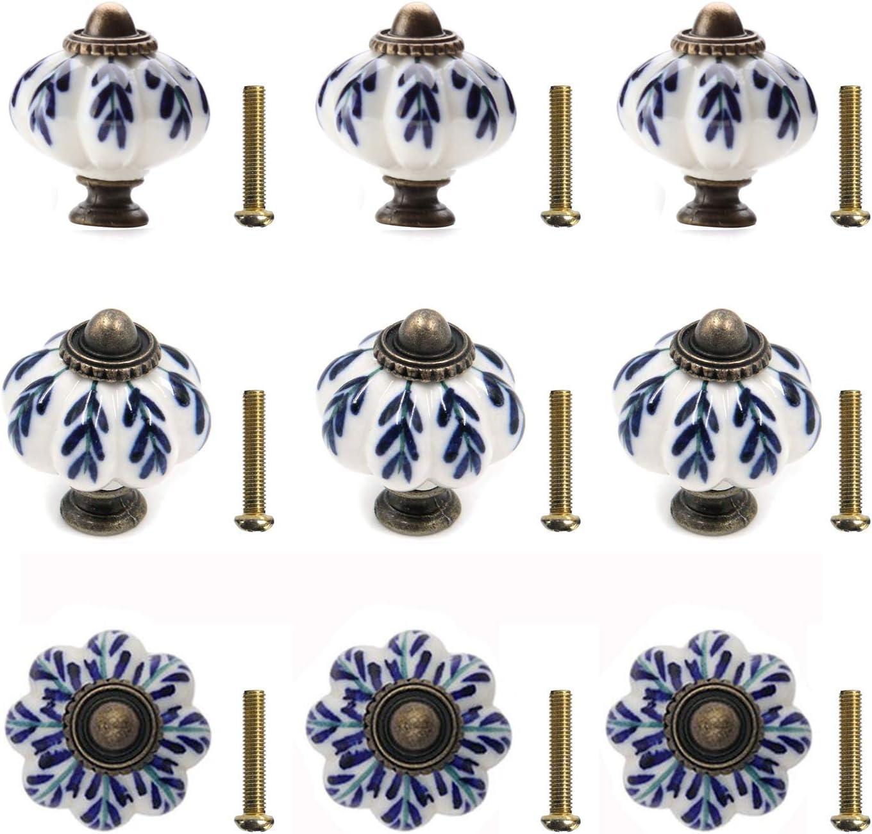 OHK0004 Black and white Chakra ceramic Knobs Handpainted Cabinet poign\u00e9es de tiroir Cupboards Dresser Drawers nob Price is for 1 knob