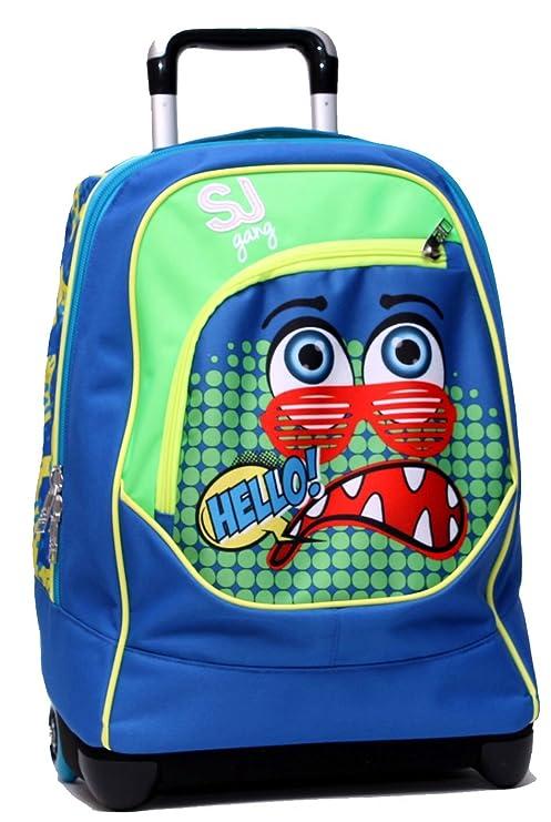 986c876818 Zaino Big Trolley Blu Facce da SJ Boy Seven: Amazon.it: Valigeria