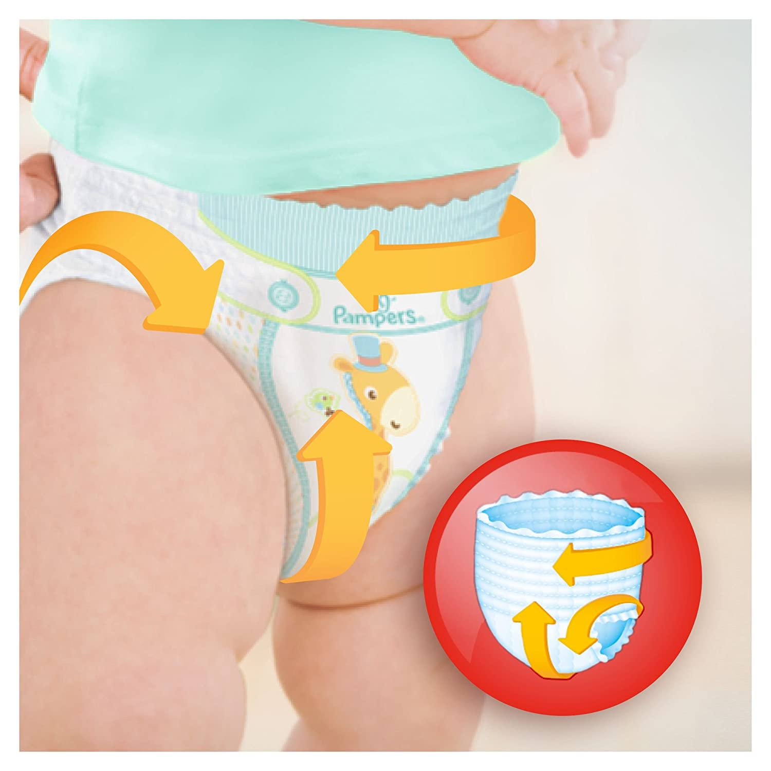 Pampers Baby Dry Pants Couches Taille/6 +15 kg//XL - Jumbo+ Pack x58 culottes