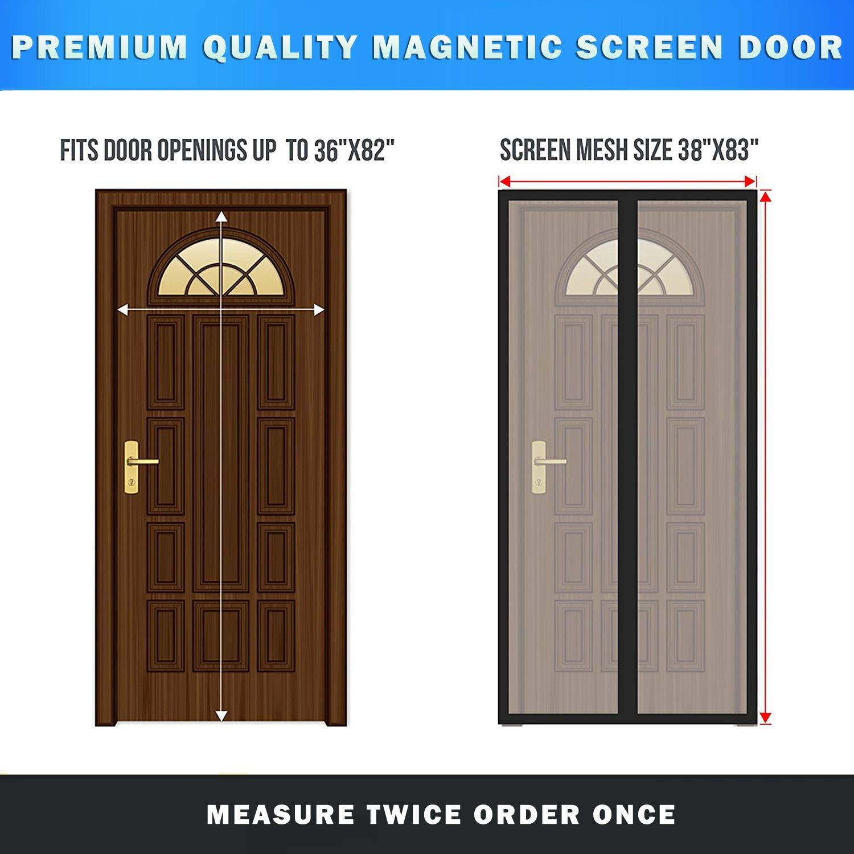 Magnetic Screen Door Easy Install Screen Door Magnetic Door Screen Pet Friendly Sliding Door Screen Door Mesh Door Screen Net for Doors Screen for Door