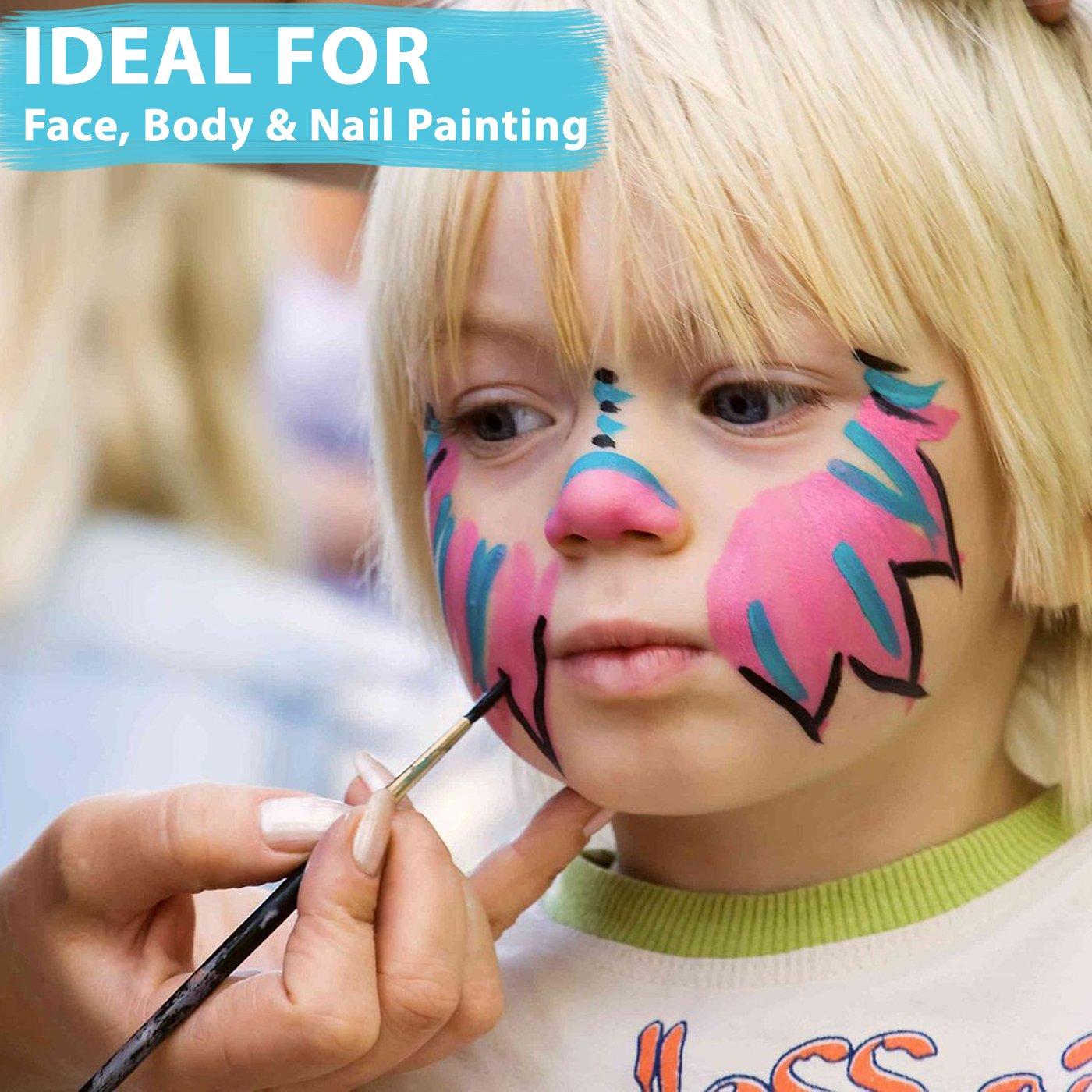 Best Oil Watercolor Gouache Paint Brushes Art Paint Brushes Acrylic Paint Brush Set of 15 Face Body Paint Brushes Kit Artist Brush Set Paintbrushes for Kids Beginners Teens Men Women Adults