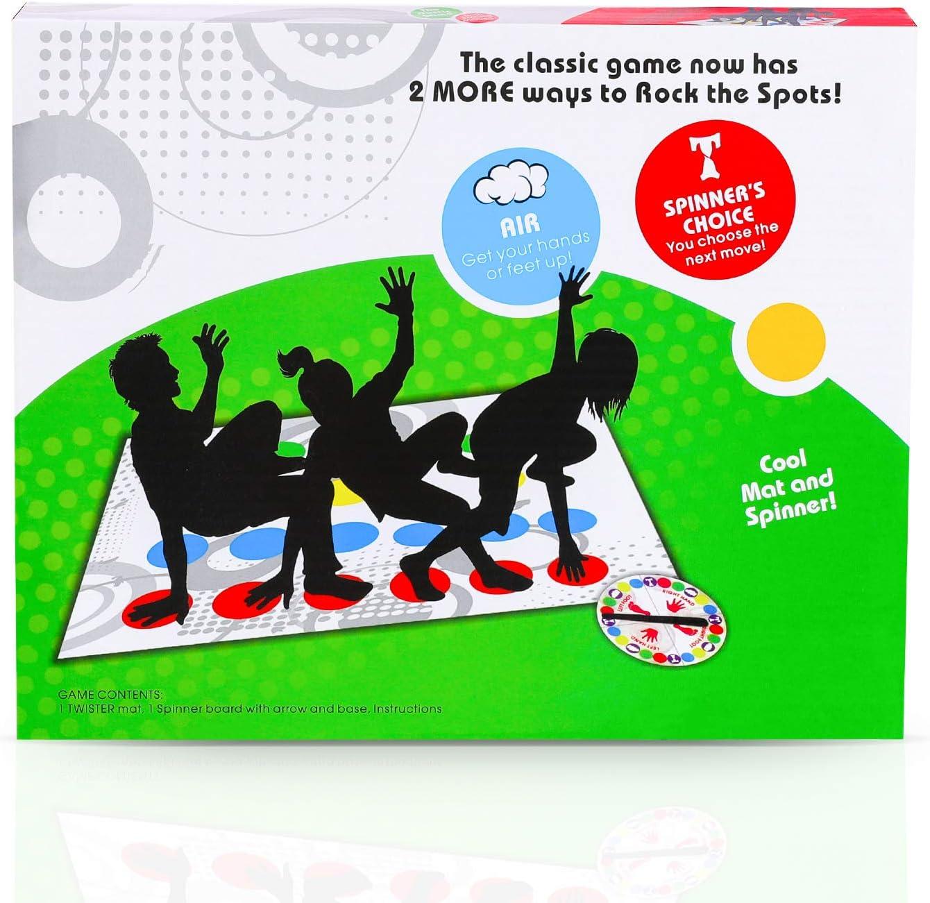 LIULIUKEJIJuegos de Mesa , Twister, Twister Game para ejercitar el Equilibrio y la flexibilidad, Juego de Mesa para armar, Juegos de Mesa Twister Game para familias / niños / Adultos
