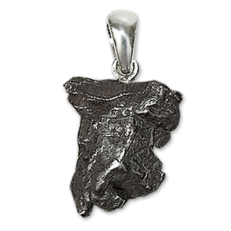 CLEVER SCHMUCK Anhänger Meteorit ECHTE STERNSCHNUPPE mit 925er Silber-Schlaufe und Zertifikat ahs7000