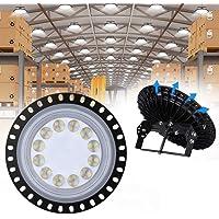 UFO LED Iluminación, WZTO 5000LM 50W Techo de Cristal 6000K-6500K Impermeable IP65, Brillante Iluminación Comercial…