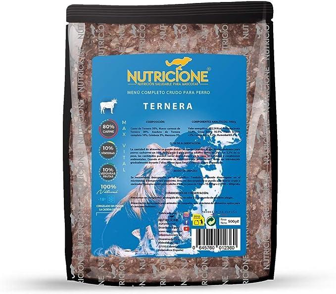 Nutricione - Barf MAX Vital menú Completo Ternera congelado ...