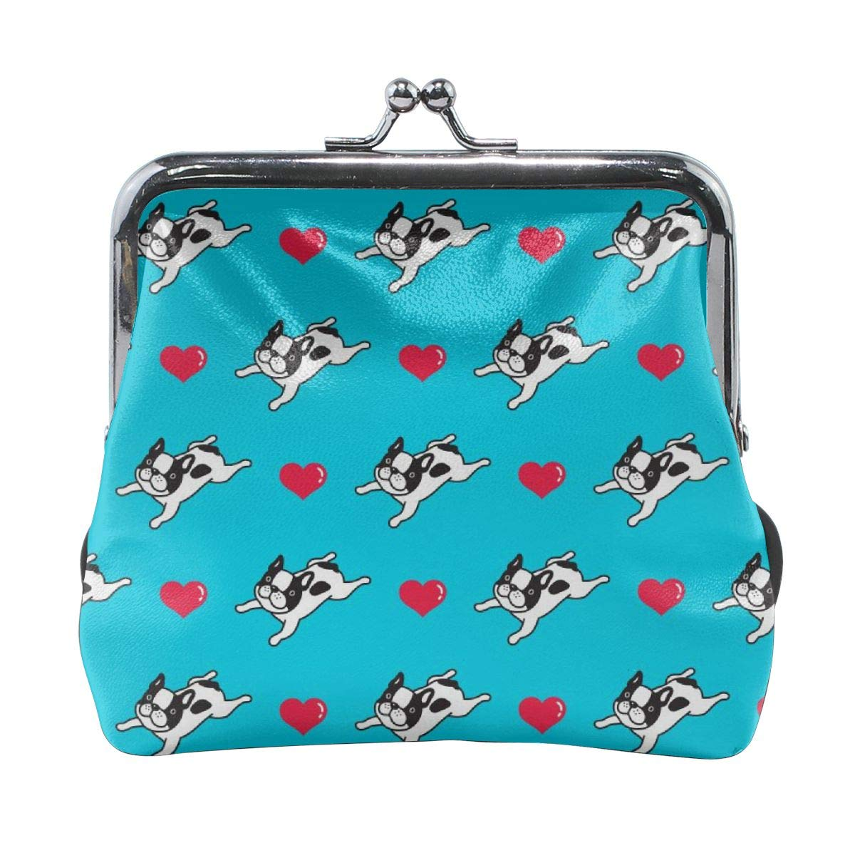 French Bulldog Heart Cute Buckle Coin Purses Buckle Buckle Change Purse Wallets