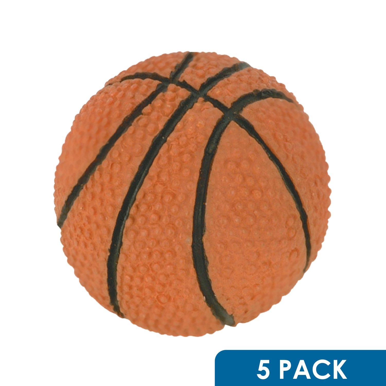 "5 Pack Rok Hardware Go Team Collection Basketball Sport Cabinet Kitchen Home Decor Hardware Drawer Door Knob 2-1/16"""