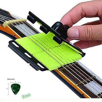 Dr. Rosa cuerdas para guitarra eléctrica limpiador, ULTRA suave microfibra paño de limpieza herramienta para instrumento de cuerda, color negro y verde: ...
