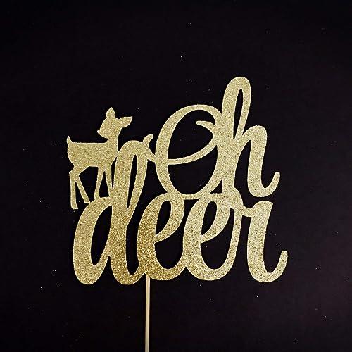 700554a5f598d Amazon.com: Oh Deer Cake Topper, Oh Deer Baby Shower, Deer Baby ...