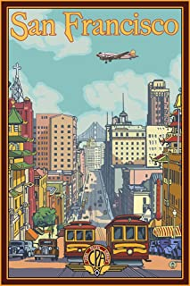 product image for San Francisco, California - California Street (36x54 Giclee Gallery Print, Wall Decor Travel Poster)