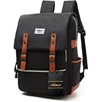 Vintage Laptop Backpack,15 inch Laptop Backpack Puersit Durable Business College Travel Daypacks