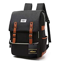 Vintage Laptop Backpack,15 inch Laptop Backpack Puersit Durable Business College Travel Daypacks
