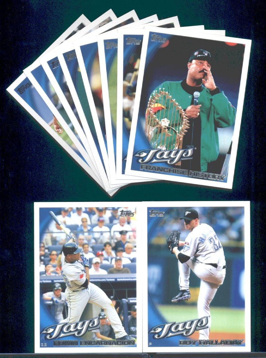 B0041IJGW0 2010 Topps Baseball Cards Complete TEAM SET: Toronto Blue Jays (Series 1 & 2) 21 Cards Including Travis Snider, Frasor, Wells, Halladay, Overbay, & more! 71-jNk8Dc4L