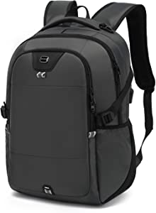 Laptop Backpack Water Resistant Backpacks Durable College Travel Daypack Anti Theft with USB Charging Port for 15.6 Inch Laptops Best Gift for Men Women Boys Girls Students(15.6 Inch, Grey)