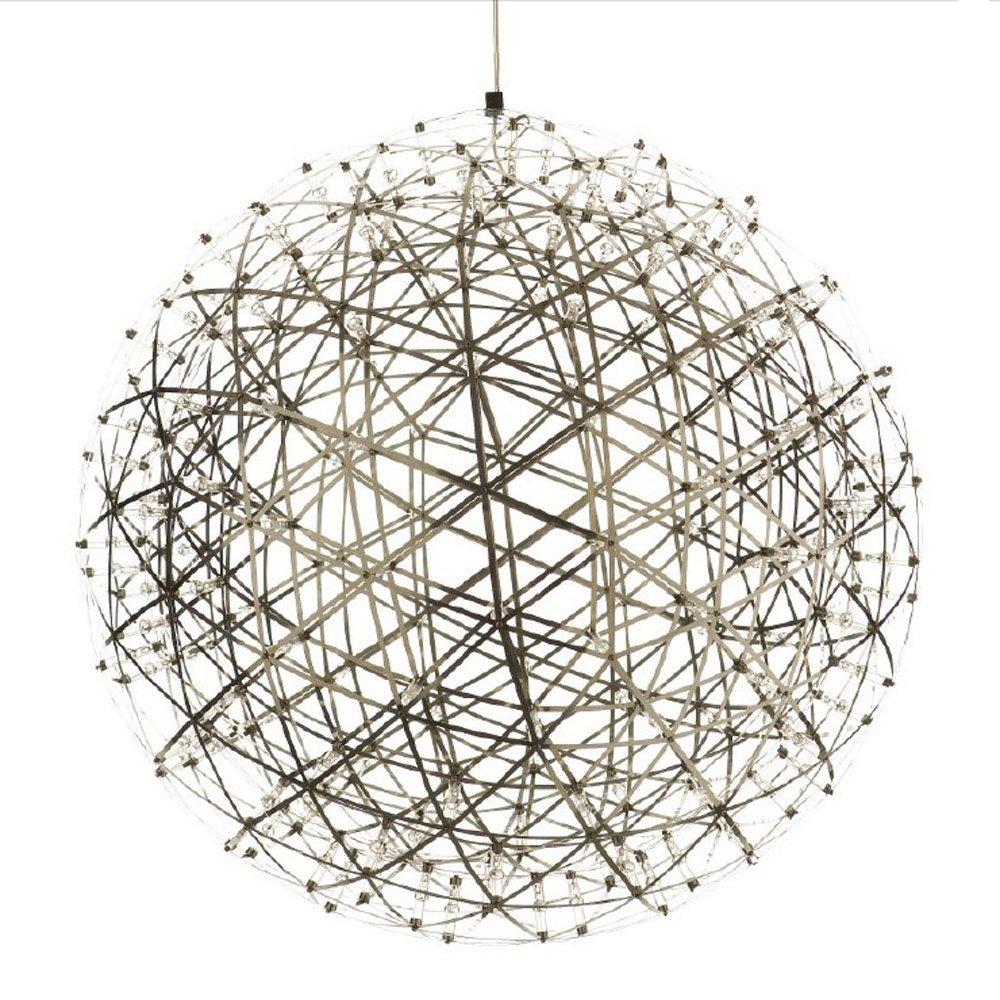 Kiven® Sparking Stars Lights Modern Style Globle Shade Stainless Steel Design Led Pendant Light Hanging Lamp Fixture Suitable for Restaurant,bedroom (Warm white 3000K) by Kiven (Image #3)