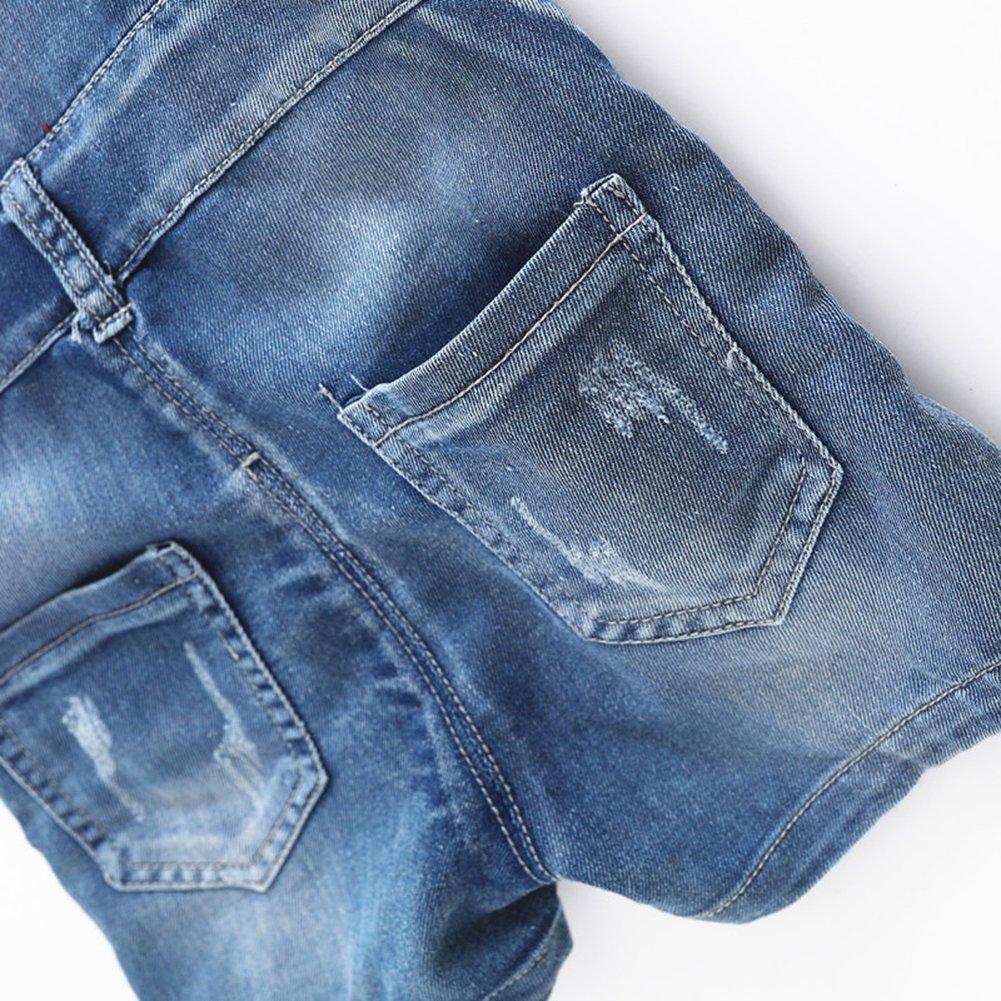 Kidscool Baby /& Little Boys//Girls Cute Blue Adjustable Denim Shortalls