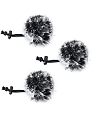 Comica CVM-MF1(G) Outdoor Furry Microphone Wind Muff (Dead cat) for lavalier lapel microphone Comica Audio-Technica lavalier clip on lapel microphone.(3 Pack)