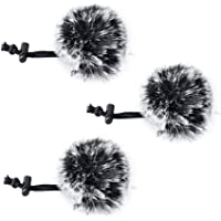 Comica CVM-MF1(G) Outdoor Furry Microphone Wind Muff (Dead cat) for lavalier Lapel Microphone Comica Audio-Technica lavalier Clip on Lapel Microphone.(3 Pack) …