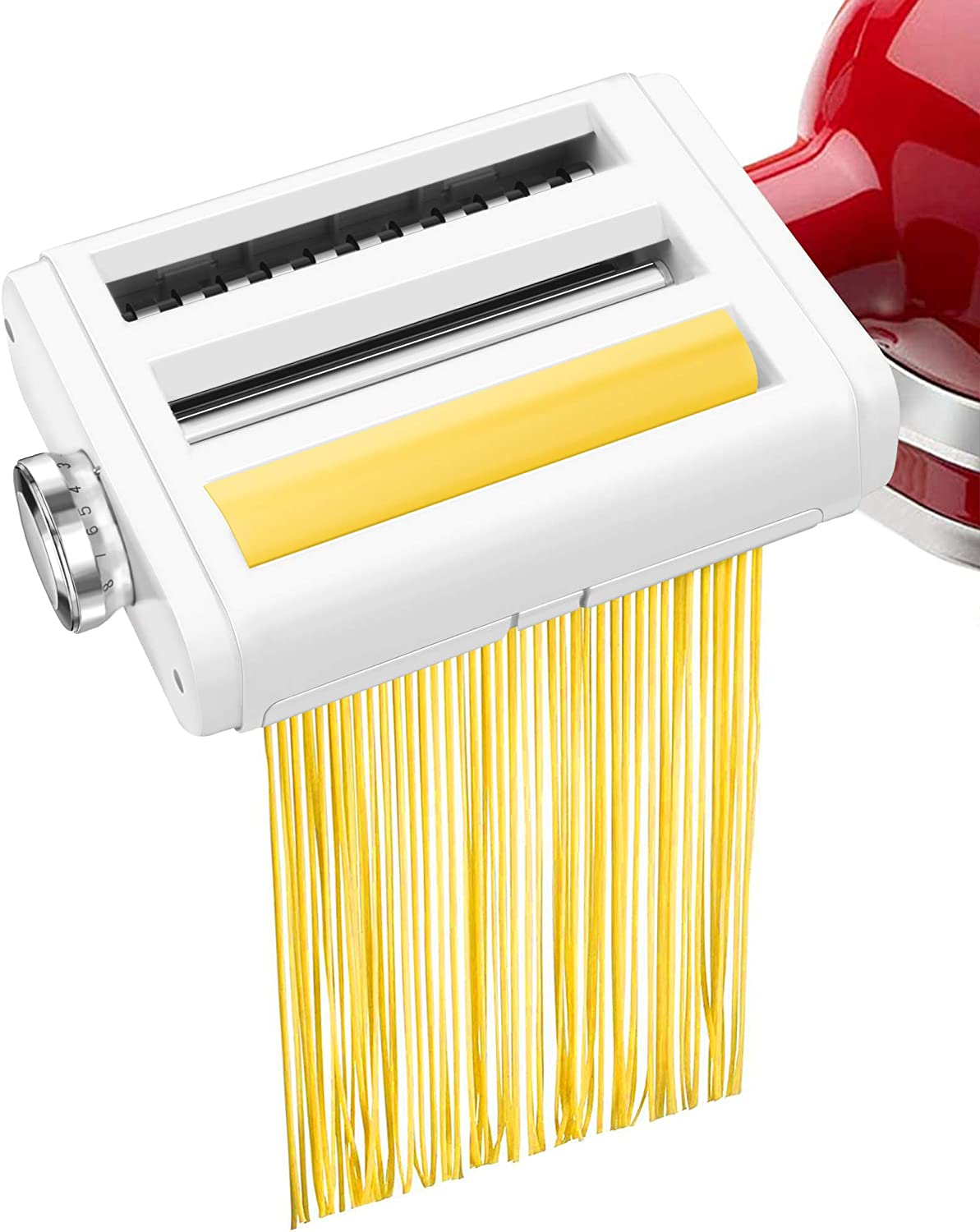 Pasta Maker Attachment for KitchenAid Stand Mixers 3 in 1 Set Includes Pasta Roller Spaghetti Cutter &Fettuccine Cutter, Durable Pasta Attachments for KitchenAid