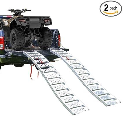 Aluminum Atv Ramps >> Amazon Com Empirecovers Tru Grip Dual Curved Aluminum Folding Atv