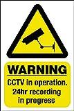 DCC Autocollant de fenêtre avec inscription site sous vidéosurveillance [texte en anglais] 150 x 100 mm