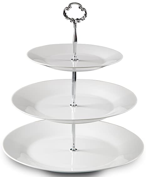 Well-known Amazon.com | Klikel 3 Tier Round Serving Tray Platters, Appetizer  PP24