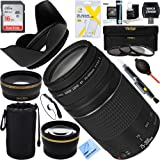 Canon EF 75-300mm F4-5.6 III Lens + 16GB Wide-Angle & Telephoto Ultimate EOS Lens Kit (Certified Refurbished)