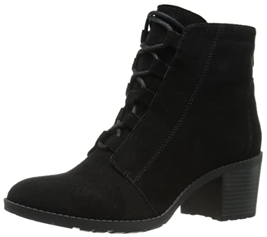 Anne Klein Women's Kadey Suede Boot, Black, ...