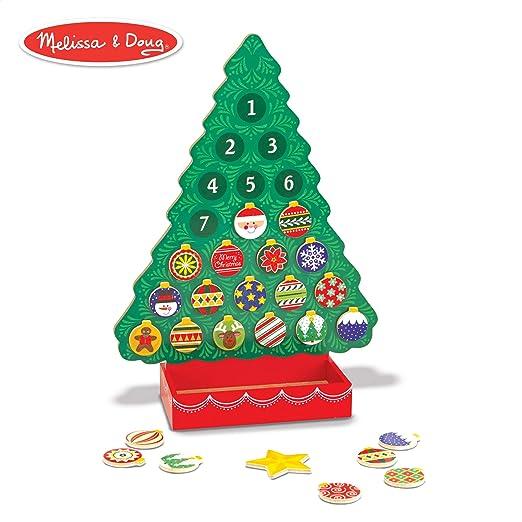 d623b9a33632 Amazon.com: Melissa & Doug Countdown to Christmas Wooden Advent Calendar  (Seasonal & Religious, Magnetic Tree, 25 Magnets): Melissa & Doug: Toys &  Games