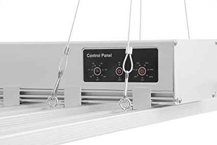 Fluence Style Led Grow Light - ETL Listed - for Veg and Flower - 8 Bar with  Timer and Dimmer Control Panel