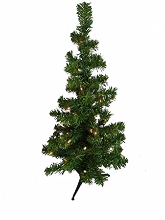 Amazon.com: 2' Pre-Lit Artificial Table Top Christmas Tree - Clear ...