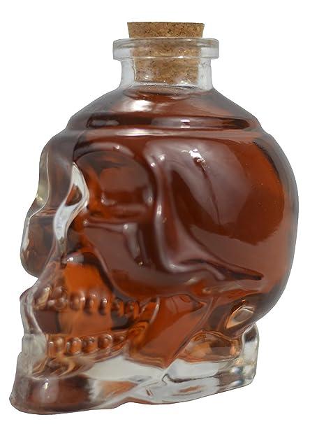 Ducomi® Rover - Botella de Vidrio en Forma de Calavera para Licores, Vino,