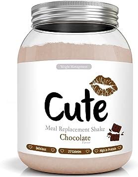 Cute Nutrition Batido Sustitutivo de Comida Sabor Chocolate para el Control de la Pérdida de Peso en Polvo Bebida Dietética para Mujer Bote de 500 g: Amazon.es: Salud y cuidado personal