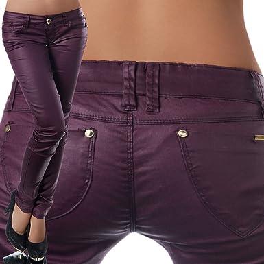 a353ddb44b8b51 fashion boutik pantalon huilé simili cuir violet femme sexy tendance ...